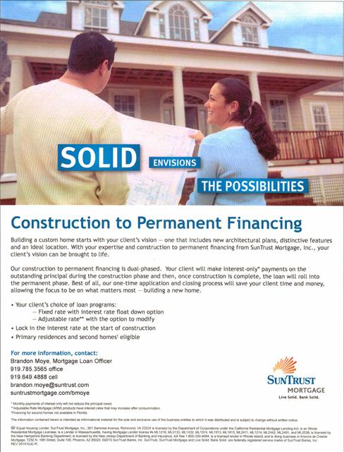 Home loans for Home construction loan lenders